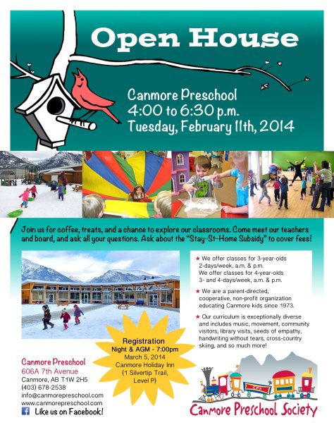 2014 open house poster