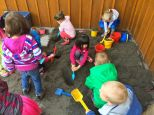 The sandbox is popular.
