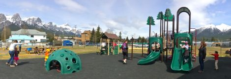 The preschool playgrounds.