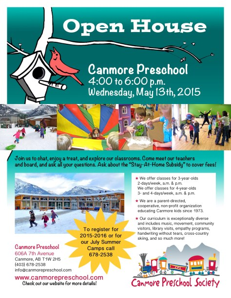 2015 open house poster